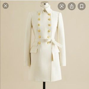 EUC Jcrew Ivory Townhouse Trench